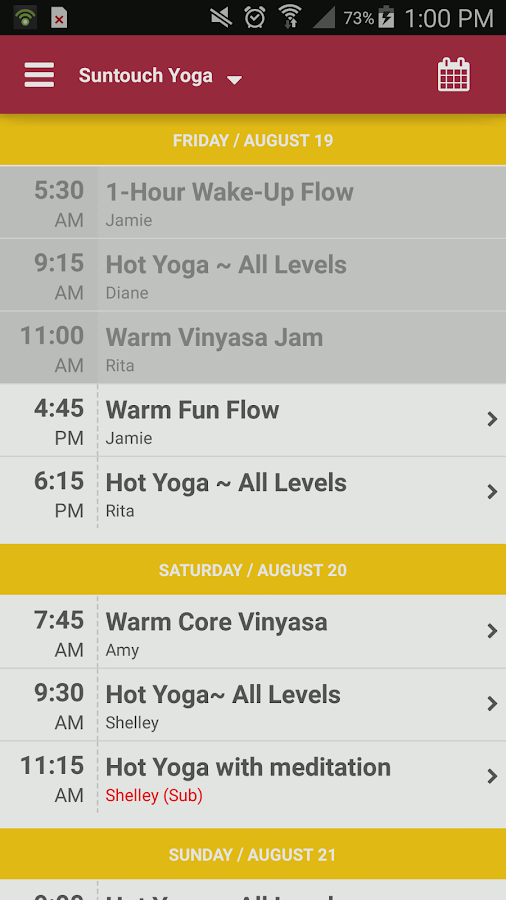 Suntouch Yoga- screenshot
