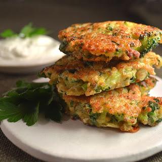 Broccoli Cheddar Quinoa Fritters