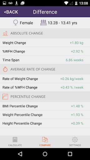 Instant Weight For Height 1.8 screenshots 6