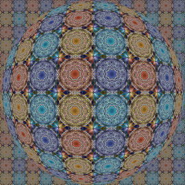FRACTAL PATTERN  MANDALA OP ART by Cassy 67 - Illustration Abstract & Patterns ( digital, love, op art, surreal, harmony, abstract art, trippy, abstract, creative, fractals, digital art, psychedelic, modern, kaleidoscope, light, fractal, style, energy, fashion )