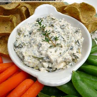 Healthy Greek Yogurt Spinach Artichoke Dip.
