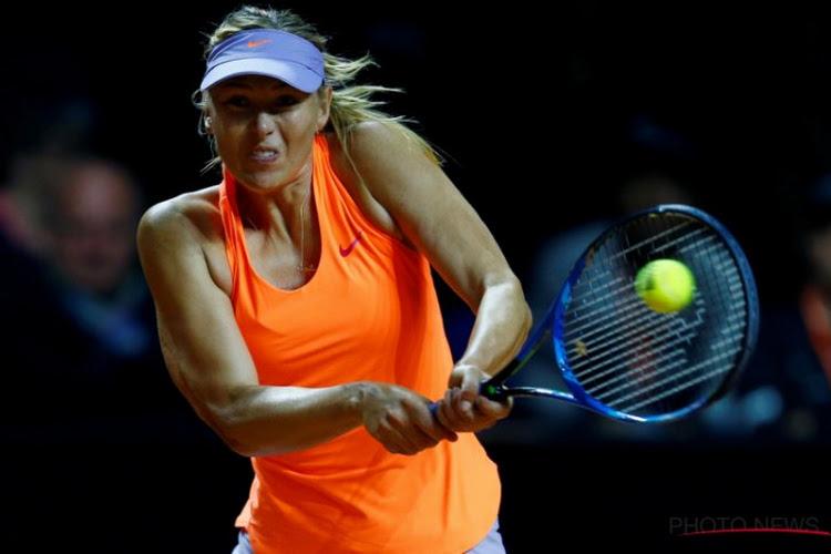 Sharapova snoert Vinci de mond bij terugkeer