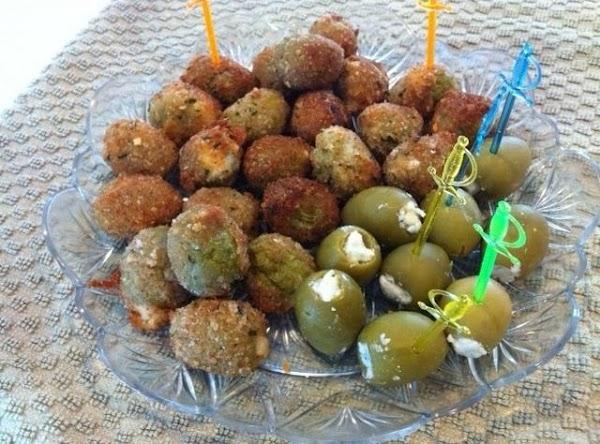 Pan Fried Stuffed Green Olives Recipe