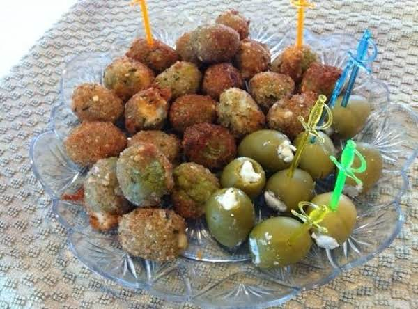 Pan Fried Stuffed Green Olives Recipe