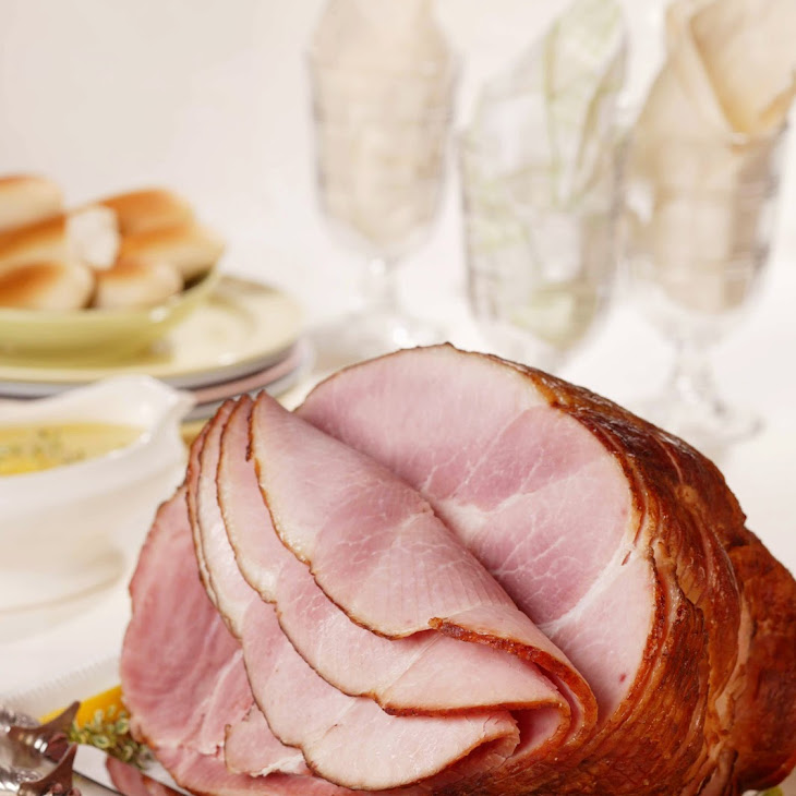 Spiral-Cut Ham with Slow-Roasted Asparagus and Lemon-Thyme Sauce Recipe