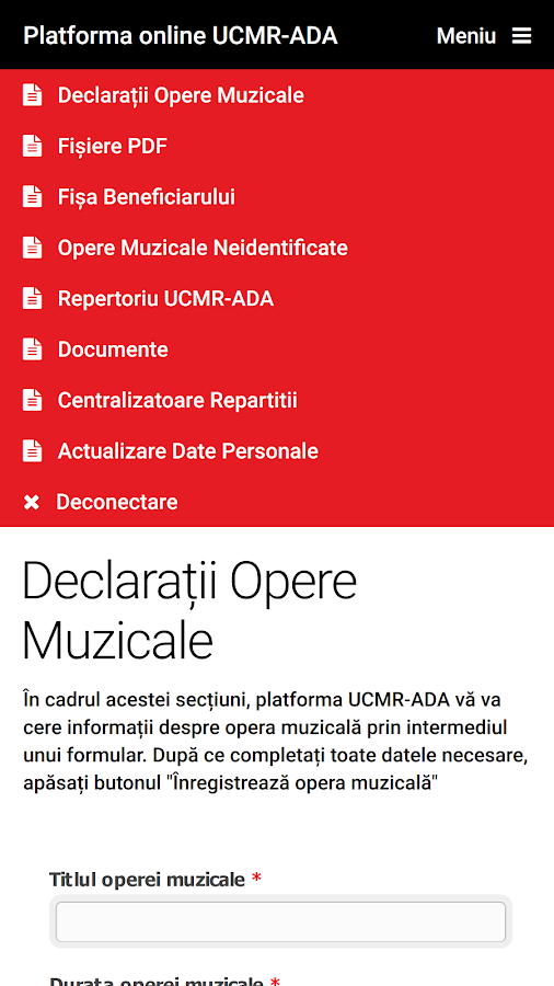 Platforma UCMR-ADA- screenshot