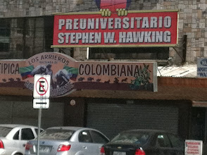 Photo: Back in Quito, we spot the university of Stephen Hawking.