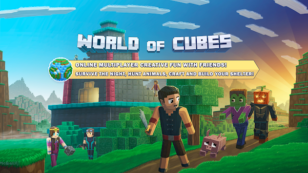 World of Cubes Survival Craft with Skins Export