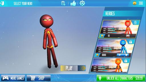 Grand Stickman Rope Hero Crime City screenshot 5