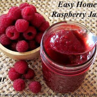 Low Sugar Raspberry Jam-Jelly.