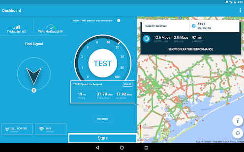 4G WiFi Maps & Speed Test. Find Signal & Data Now. Screenshot