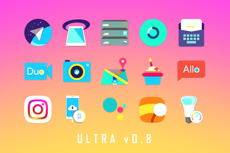ULTRA - 80s Vaporwave Icon Pack Screenshot 7