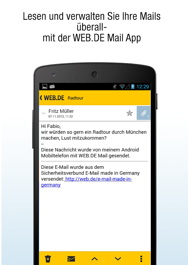 WEB.DE Mail- screenshot