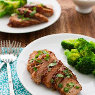 Pork Tenderloin with Hoisin Sauce Glaze.