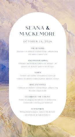 Seana & Mackamore - Wedding Program item