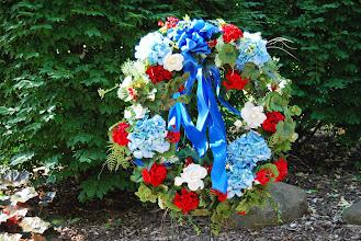 Photo: Wreath in honor of Ronald W. Reagan, Class of '32, at the Reagan Memorial 2013, Eureka College