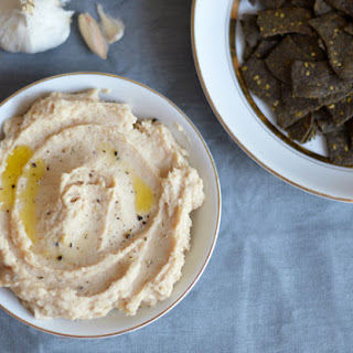 Roasted Garlic and Horseradish White Bean Dip for Ocean's Halo Chips