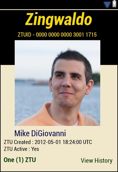 Photo: ZTU # 4 for Mike DiGiovanni