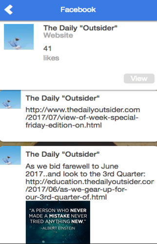 The Daily Outsider- screenshot