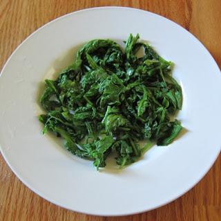 Sauteed Radish Greens.