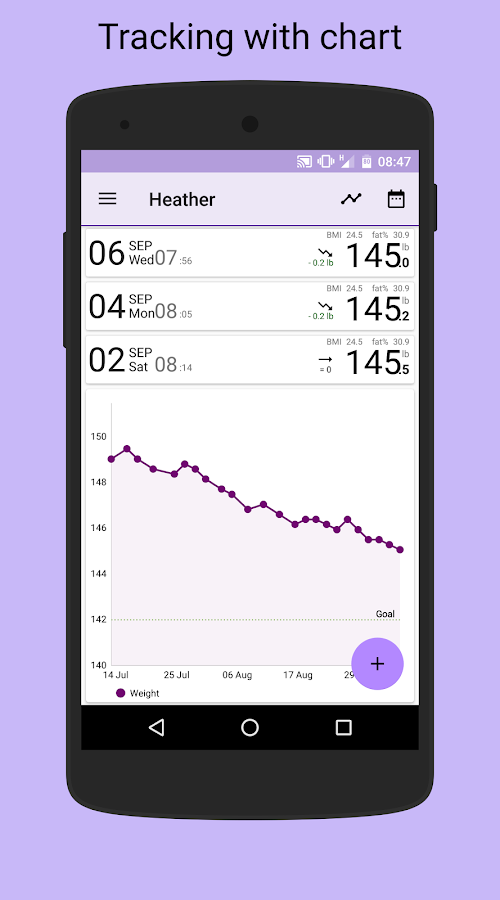 BMI-Weight Tracker- screenshot