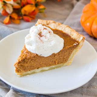 Libby's Pumpkin Pie with Maple Whipped Cream.