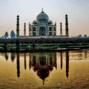 Taj Mahal from the other side, Yanuma river by Paul Cowell - Landscapes Travel