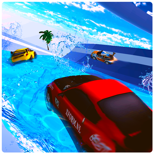 Water Surfing Car - Waterpark Stunts