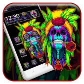 Music Skull Colorful Theme