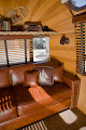 Photo: Warm woods and leather help create the ultimate Airstream interior.