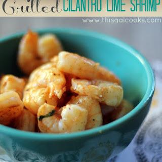 Grilled Cilantro Lime Shrimp.