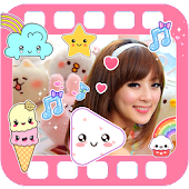 Kawaii Video Editor with Cute Stickers for Photos