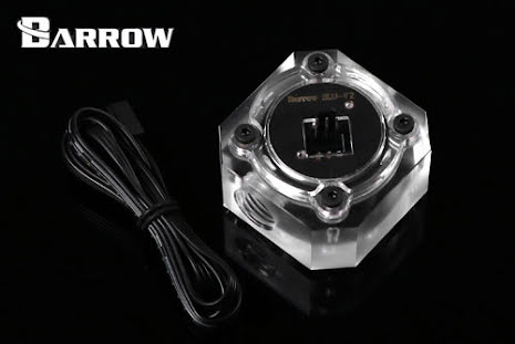 """Barrow strømningsindikator m/turtallpulser, 1/4""""BSP, Plexi"""