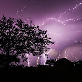 Thunderstruck by Roger Fanner - Landscapes Weather