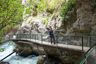 Photo: walkway into the Saklikent Gorge