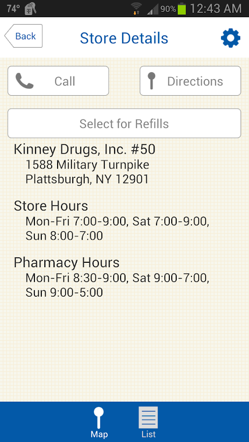 Kinney Drugs- screenshot
