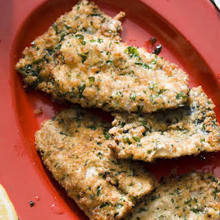 Crumbed Sardines with Roasted Tomato Sauce.