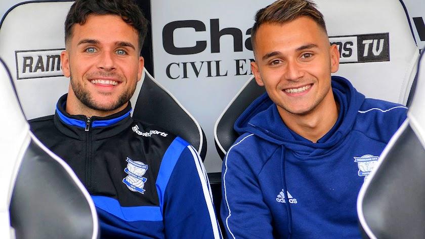 Álvaro Giménez y Fran Villalba, compañeros en el Birmingham City.