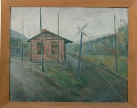 Photo: Bahnhof, Öl auf Leinwand, 1946