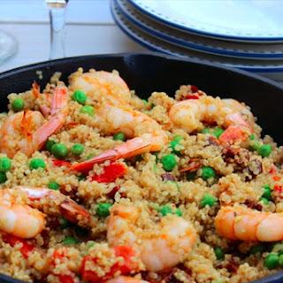 Quinoa & Shrimp Paella.
