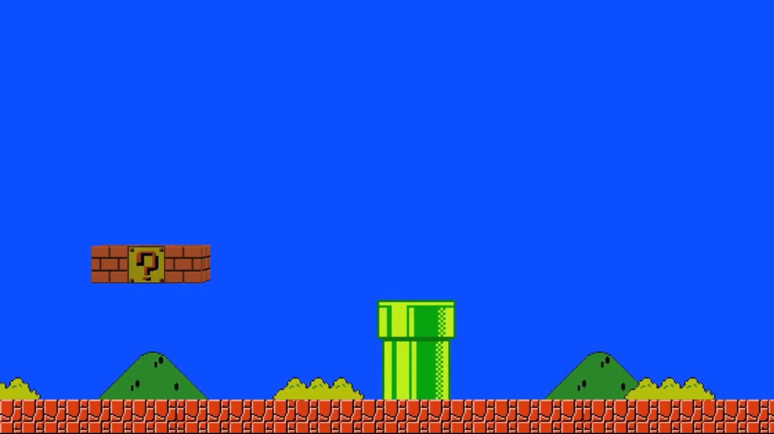 Super Mario Bros Zoom Virtual Background