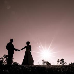 Evening Sunsets in Split Tone by Robert Blair - Wedding Bride & Groom ( wedding photography, wedding, wedding photographer, bride and groom, bride,  )