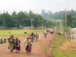 Photo: Chencha - people going on the Saturday market