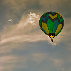 Up, Up & Away by John Shelton - Sports & Fitness Other Sports ( clouds, reno, reno balloon races, event, nevada, balloon )