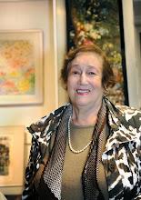 Photo: Elsa Kastela Kreihsl bei der Ausstellung im Merker-Büro (26.9.2013) . Foto: Barbara Zeininger