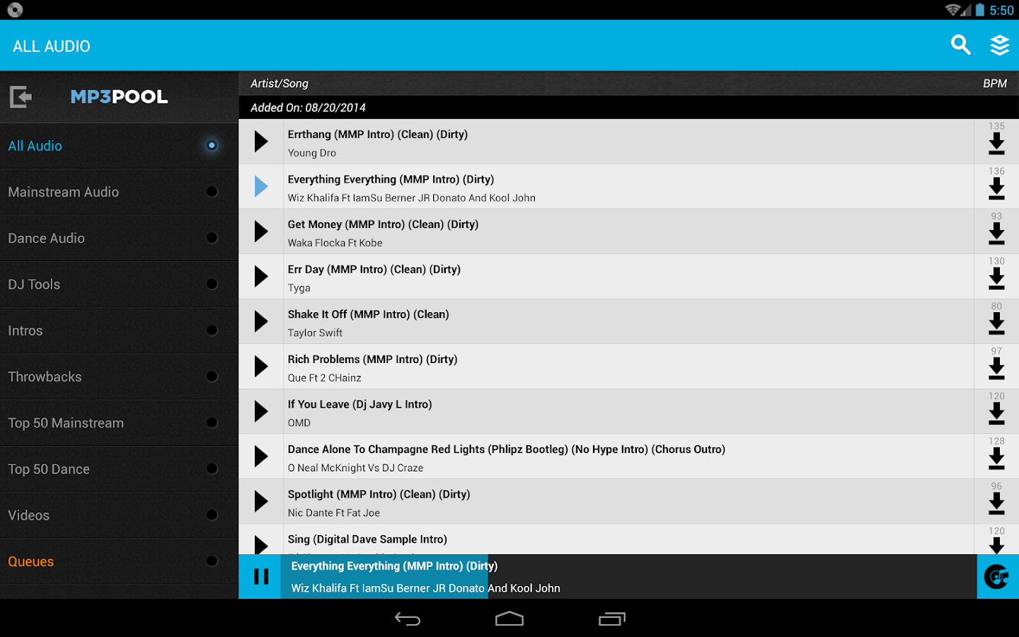 MyMP3Pool- screenshot