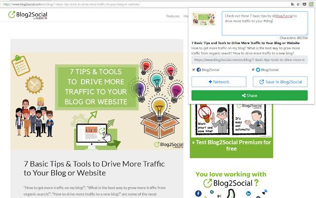 Blog2Social: Social Media Poster Extension