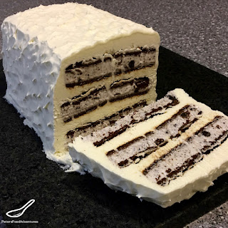 Oreo Ice Cream Sandwich Cake.