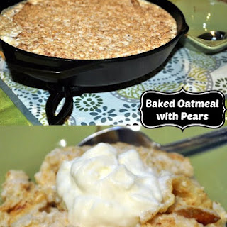 Baked Oatmeal and Pears