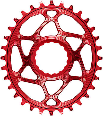 Absolute Black Oval Narrow-Wide Direct Mount Chainring - CINCH Direct Mount, 3mm Offset, Colored  alternate image 2